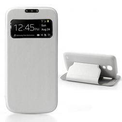 """Atverčiamas """"S-View"""" stiliaus dėklas - baltas (Galaxy S4 mini)"""