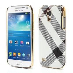 """""""Burberry"""" stiliaus dėklas - baltas (Galaxy S4 mini)"""
