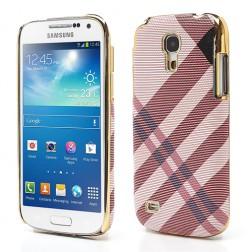 """""""Burberry"""" stiliaus dėklas - rožinis (Galaxy S4 mini)"""