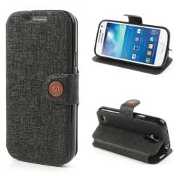 """""""Meilate"""" atverčiamas dėklas - juodas (Galaxy S4 mini)"""