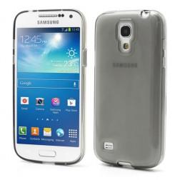 Silikoninis dėklas - skaidrus, tamsintas (Galaxy S4 mini)