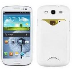 Plastikinis dėklas, piniginė - baltas (Galaxy S3)