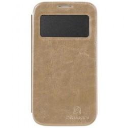 """""""Nillkin"""" Easy atverčiamas dėklas - rudas (Galaxy S4)"""
