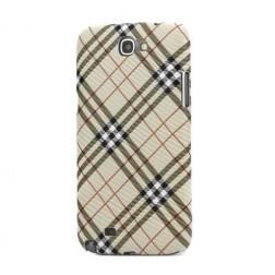 """""""Burberry"""" stiliaus dėklas - šviesiai rudas (Galaxy Note 2)"""