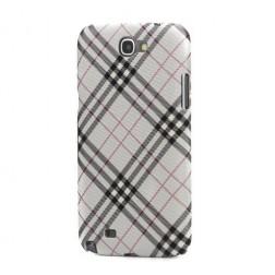 """""""Burberry"""" stiliaus dėklas - pilkas (Galaxy Note 2)"""