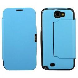 Atverčiamas dėklas - šviesiai mėlynas (Galaxy Note 2)