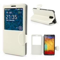 """""""Crazy Horse"""" atverčiamas dėklas - baltas (Galaxy Note 3)"""