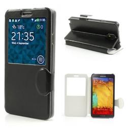 """""""Crazy Horse"""" atverčiamas dėklas - juodas (Galaxy Note 3)"""