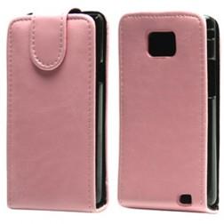 Klasikinis atverčiamas dėklas - rožinis (Galaxy S2)