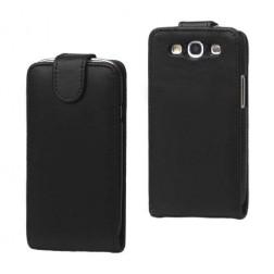 Atverčiamas odinis dėklas - juodas (Galaxy S3)