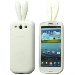 """""""Rabito"""" silikoninis dėklas - baltas (Galaxy S3)"""