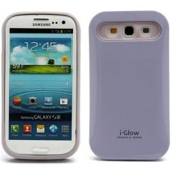 """""""i-Glow"""" dėklas - violetinis (Galaxy S3)"""