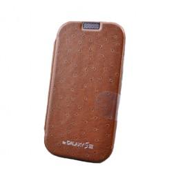 """""""Mercury"""" Flip Cover dėklas - rudas (Galaxy S3)"""