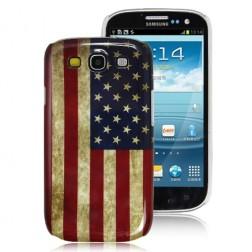 Retro stiliaus dėklas - JAV vėliava (Galaxy S3)