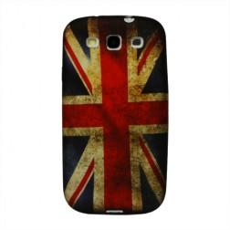 Retro stiliaus dėklas - D. Britanijos vėliava (Galaxy S3)