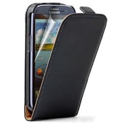 Klasikinis atverčiamas dėklas - juodas (Galaxy S3)