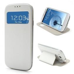 """Atverčiamas """"S-View"""" stiliaus dėklas - baltas (Galaxy S3)"""