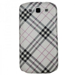 """""""Burberry"""" stiliaus dėklas - pilkas (Galaxy S3)"""