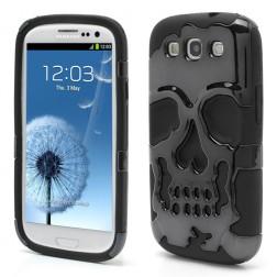 Dvisluoksnis dėklas - kaukolė (Galaxy S3)