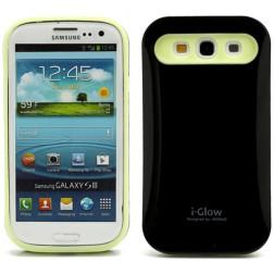 """""""i-Glow"""" dėklas - juodas (Galaxy S3)"""