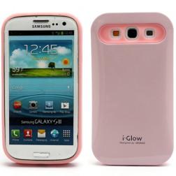 """""""i-Glow"""" dėklas - rožinis (Galaxy S3)"""