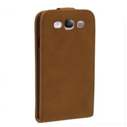 Atverčiamas dėklas - rudas (Galaxy S3)