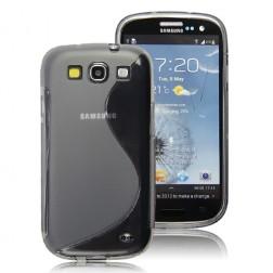 Silikoninis dėklas - tamsintas (Galaxy S3)