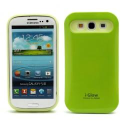 """""""i-Glow"""" dėklas - žalias (Galaxy S3)"""