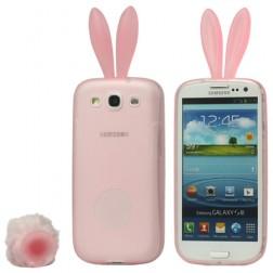 """""""Rabito"""" silikoninis dėklas - rožinis (Galaxy S3)"""