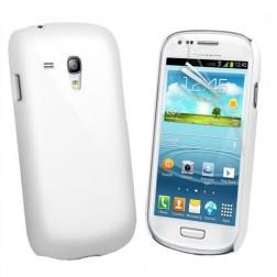 Plastikinis dėklas - baltas (Galaxy S3 mini)