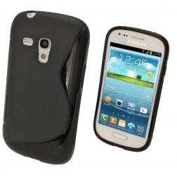 Silikoninis dėklas - juodas (Galaxy S3 mini)