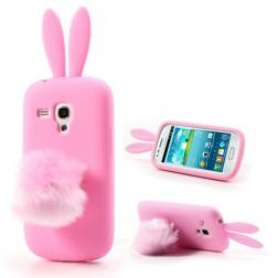 Žaismingas silikoninis dėklas - Zuikutis (Galaxy S3 mini)