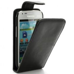 Klasikinis atverčiamas dėklas - juodas (Galaxy S Duos / Trend)