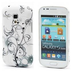 Plastikinis, raštuotas dėklas - melsvas (Galaxy S Duos / Trend)