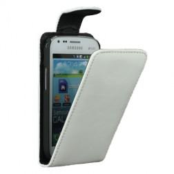 Klasikinis atverčiamas dėklas - baltas (Galaxy S Duos / Trend)