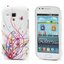 Plastikinis, raštuotas dėklas - rožinis (Galaxy S Duos / Trend)
