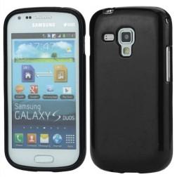 Silikoninis dėklas - juodas (Galaxy S Duos / Trend)
