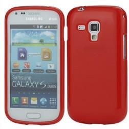 Silikoninis dėklas - raudonas (Galaxy S Duos / Trend)