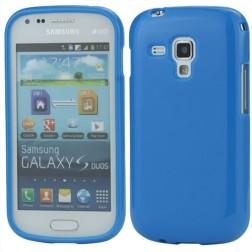 Silikoninis dėklas - mėlynas (Galaxy S Duos / Trend)