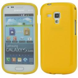 Silikoninis dėklas - geltonas (Galaxy S Duos / S Duos 2 / Trend / Trend Plus)