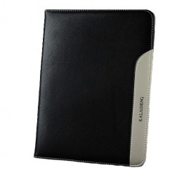 """""""Kalaideng"""" Plume serijos odinis dėklas - juodas (Galaxy Tab 3 10.1)"""