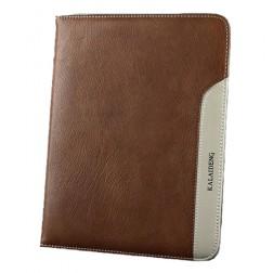 """""""Kalaideng"""" Plume serijos odinis dėklas - rudas (Galaxy Tab 3 10.1)"""