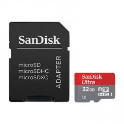 """""""SanDisk"""" MicroSD atminties kortelė - 32 Gb (10 Klasė) + SD adapteris"""