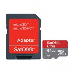 """""""SanDisk"""" MicroSD atminties kortelė - 64 Gb (10 Klasė) + SD adapteris"""