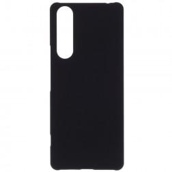 Matinis plastikinis dėklas - juodas (Xperia 10 II)