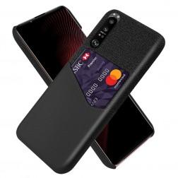 """""""KSQ"""" Shell dėklas su kišenėle - juodas (Xperia 1 III)"""