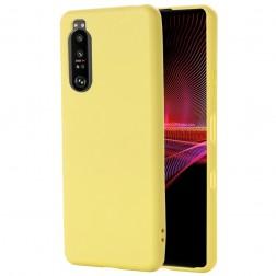 """""""Shell"""" kieto silikono (TPU) dėklas - geltonas (Xperia 1 III)"""