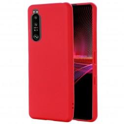 """""""Shell"""" kieto silikono (TPU) dėklas - raudonas (Xperia 1 III)"""