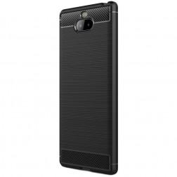 """""""Carbon"""" kieto silikono (TPU) dėklas - juodas (Xperia 10)"""