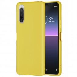 """""""Shell"""" kieto silikono (TPU) dėklas - geltonas (Xperia 10 II)"""
